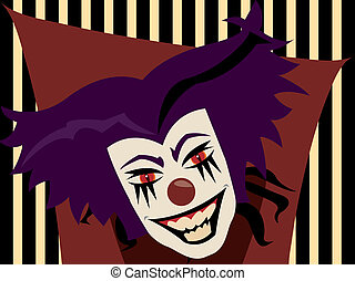 Evil Clown - Lets face it we ALL know clowns are PURE EVIL...