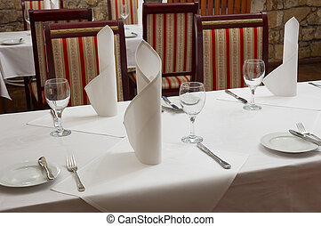 restaurant table - served restaurant table ready for...