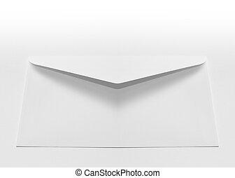White Envelope - White envelope on a white background