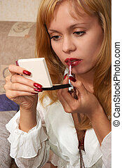 young and attractive - young attractive blonde girl in...