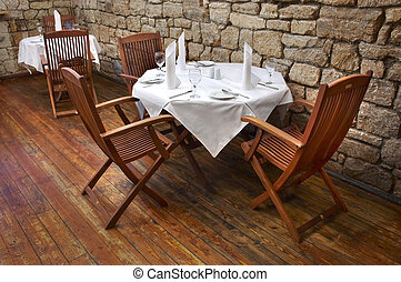 restaurant table 1 - served restaurant table ready for...