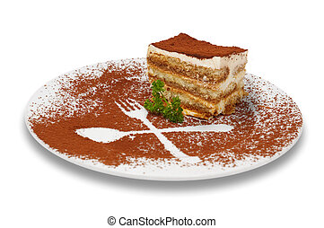 tiramisu dessert 2 - tiramisu dessert served on plate with...
