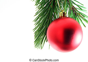 Oh Christmas Tree - A christmas tree ornament against pine...