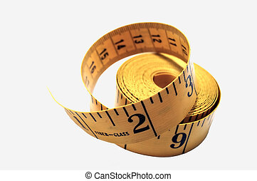 Measuring Tape against a white background with soft shadows