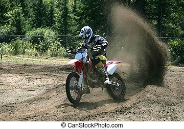 trail of dust - taken at massey moto cross