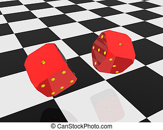 Two rolling dice