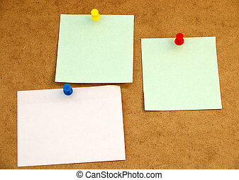 Notice board 3 - corkboard with blank cards