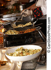 Food being prepared at a wedding function - this is an image...