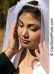 Spanish or Mexican American Wedding Bride - A Mexican...