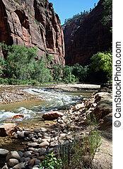 Narrows River at Zion Canyon