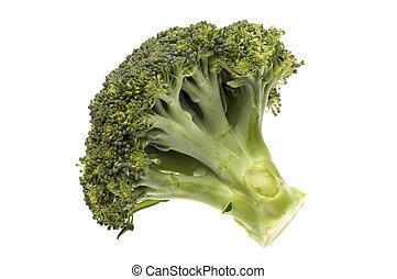 broccoli - green fresh broccoli close up on white