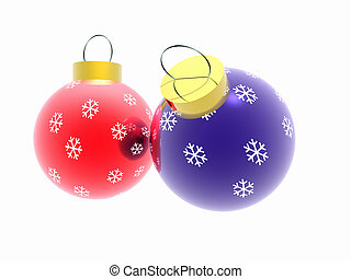 Christmas ornaments - New Year Winter imagination Christmas...