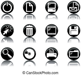 icons - computer set 2 - a set of computer themed icons