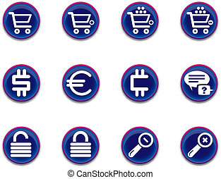 ecommerce icons - set 1 - a set of ecommerce themed icons