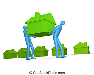 Business - Home Movers 2 - Computer generated image -...