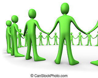 United People - Green - Computer generated image - United...