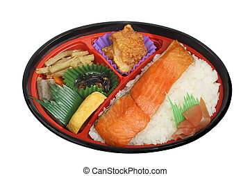 Japanese lunch box 1 - Japanese lunch box (obento) with...