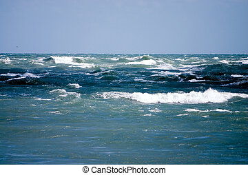 Angry Seas - Rough waves of the Atlantic ocean during...