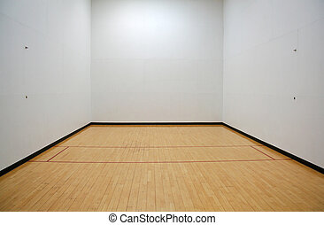 Empty Racquetball Court