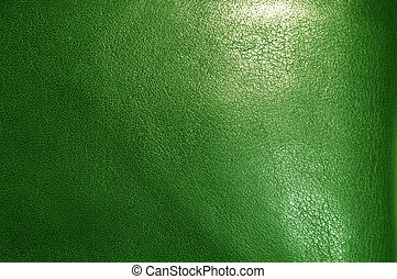 Green leather texture - A macro shot of a Green leather...