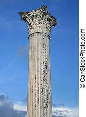 Roman column - Ancient Roman Column with a Corinthian...