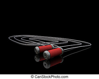 Skipping rope - 3D render of a skipping rope
