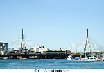 Zakim Bridge 1 - Sailiing boats and ships around Zakim...