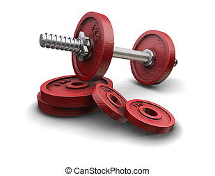 Weight lifting weights - 3D render of weight lifting weights