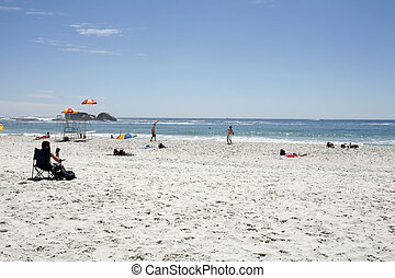 Sandy Beach - Sandy beach, sea and sky, Clifton, South...