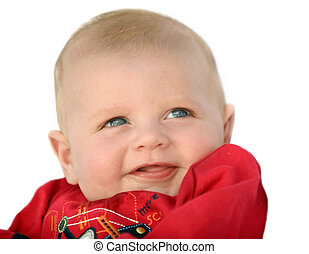 Happy baby boy - Cute happy 3 month old baby laughing