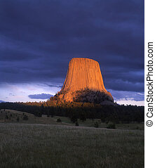 DevilsTower - Devils Tower National Monument, photographed...