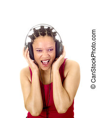 Yeah! - Woman listening to music