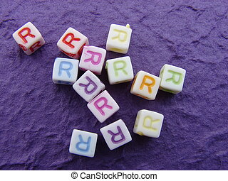 \\\'R\\\' - Many blocks with the letter \\\'R\\\'