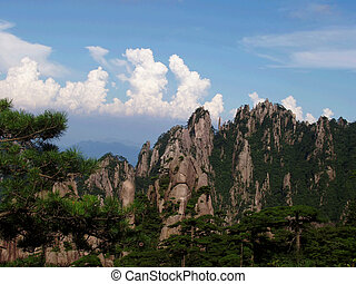 scenery of Huangshan - The scenery of Huangshan in Anhui...