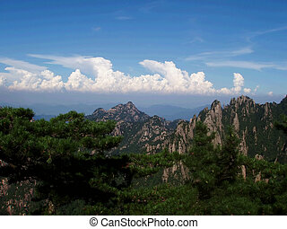 scenery of Huangshan  in Anhui in China