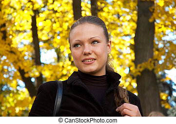 autumn portrait of a girl