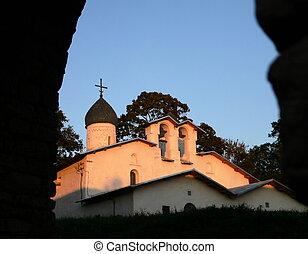 Church on sundown