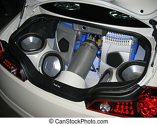 junk in the trunk - Custom audio system in the trunk of a...