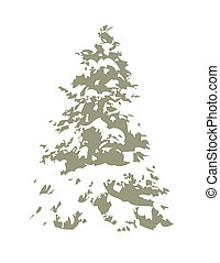 snowy pine tree - Decorate your own Christmas tree -- for...