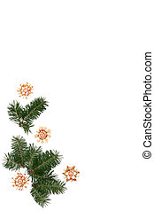 Christmas tree frame - Christmas tree twigs with straw stars...