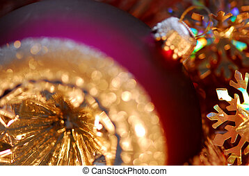 Christmas ornament - Closeup of purple christmas tree glass...