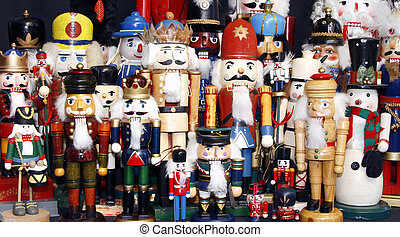 Nutcracker Collection - Colorfull collection of wooden...