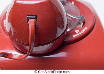 rojo, rotatorio, teléfono