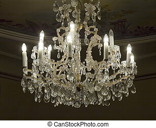 Antique chandelier - Antique crystal chandelier