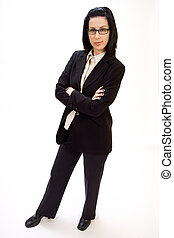 Im in Charge - Casual corporate full body portrait of female...