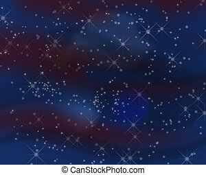 Constellations - A background of stars and constellations in...