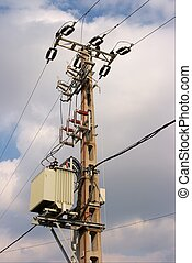 pillar - Electric pillar with transformer