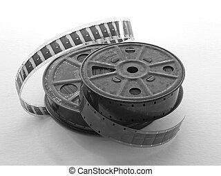 16mm Film - 16mm metal film spools with film