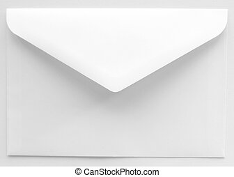 White Envelope with open unsealed flap