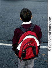 Kid goind to School - A Kindergarden kid going to school...